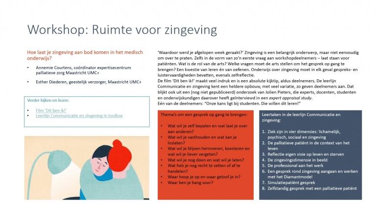uit: Verslag Pasemeco-symposium HOOP, workshop Ruimte voor zingeving